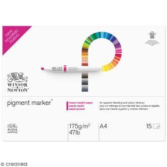 Bloc papier spécial PigmentMarker A4 - 175 g/m² - 15 pcs