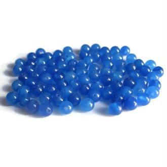 20 Perles Jade Naturelles Bleu 4mm