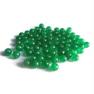 20 Perles Jade Naturelles Vert Bouteille 4mm
