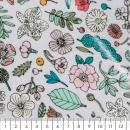 Coupon de tissu Toile cirée Made by me - Fleurs - Fond  lilas - 25 x 70 cm - Photo n°2
