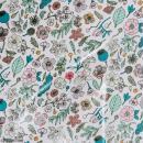 Coupon de tissu Toile cirée Made by me - Fleurs - Fond  lilas - 25 x 70 cm - Photo n°1