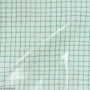 Coupon de tissu Toile cirée Made by me - Carreaux verts - Fond menthe - 25 x 70 cm