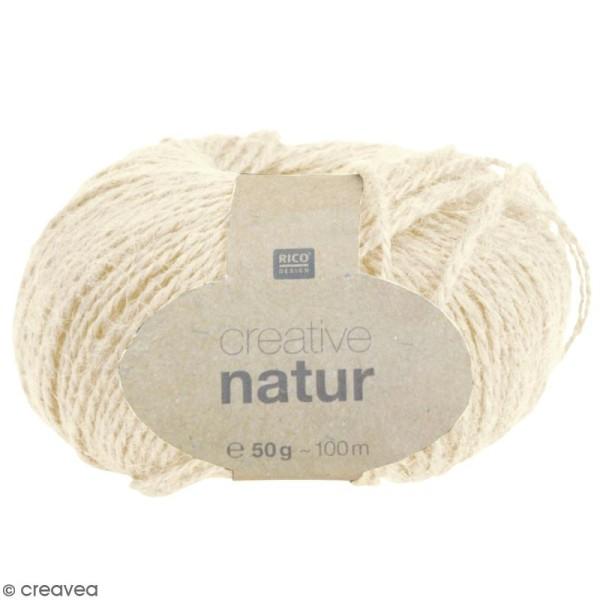 Laine Rico Design - Creative Natur 50 gr - Crème - 100% chanvre - Photo n°1