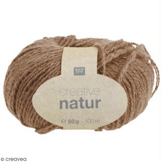 Laine Rico Design - Creative Natur 50 gr - Brun clair - 100% chanvre
