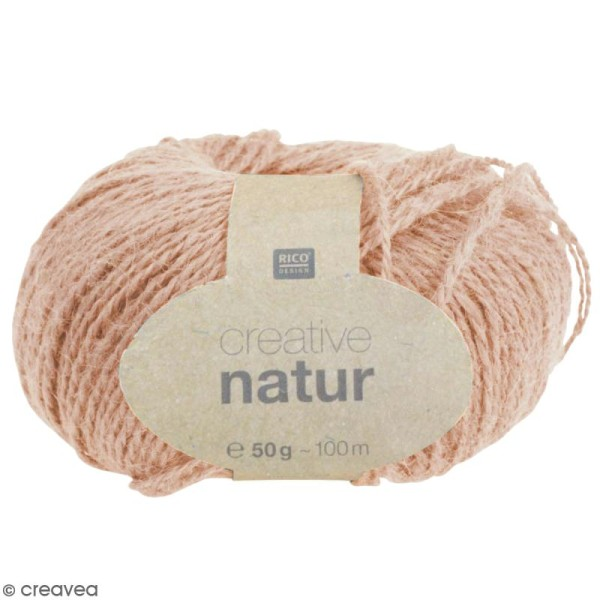 Laine Rico Design - Creative Natur 50 gr - Rose - 100% chanvre - Photo n°1