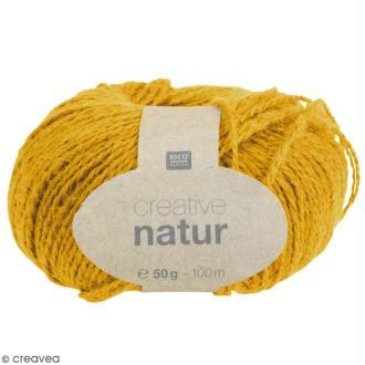 Laine Rico Design - Creative Natur 50 gr - Moutarde - 100% chanvre