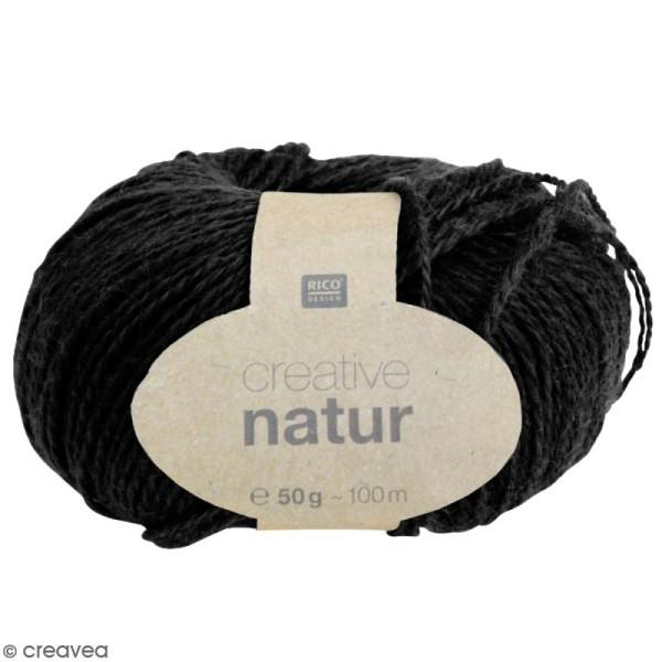 Laine Rico Design - Creative Natur 50 gr - Noir - 100% chanvre - Photo n°1