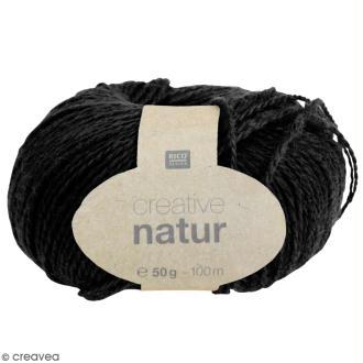 Laine Rico Design - Creative Natur 50 gr - Noir - 100% chanvre