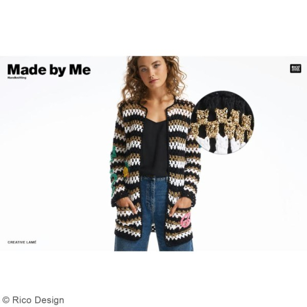 Laine Rico Design - Creative lamé - 25 gr - 62% polyester 38% polyamide - Photo n°2