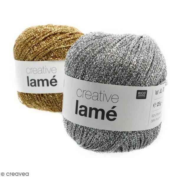 Laine Rico Design - Creative lamé - 25 gr - 62% polyester 38% polyamide - Photo n°1