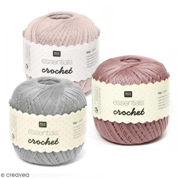 Fil Rico Design - Essentials crochet - 50 gr - 100% coton - Photo n°1