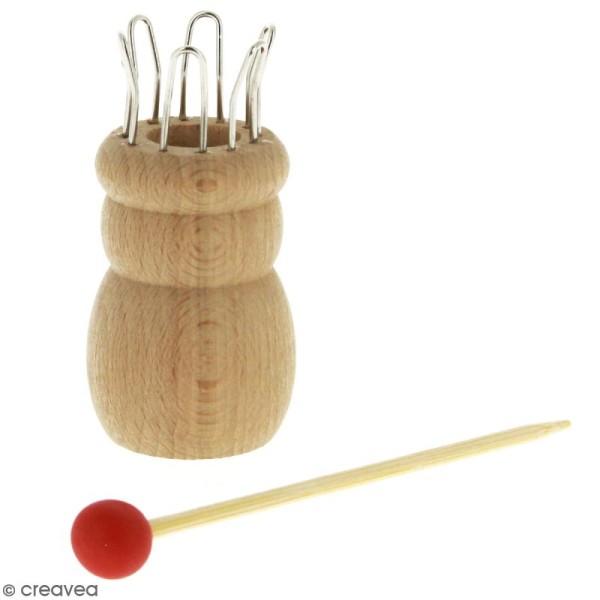 Tricotin en bois avec aiguille Rico Design - 6 oeillets - Photo n°1