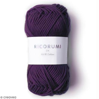 Fil à crocheter en coton Rico Design - Ricorumi - Lilas - 25 g