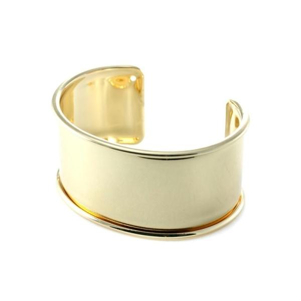 Support bracelet rigide esclave 30 mm doré - Photo n°1