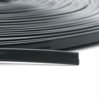 Cordon vernis plat 5 mm gris foncé x10 cm
