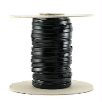 Cordon vernis plat 5 mm noir x10 cm
