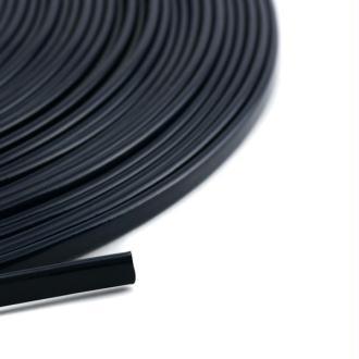 Cordon vernis plat 5 mm bleu marine x10 cm