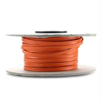 Cordon vernis plat 5 mm orange x10 cm
