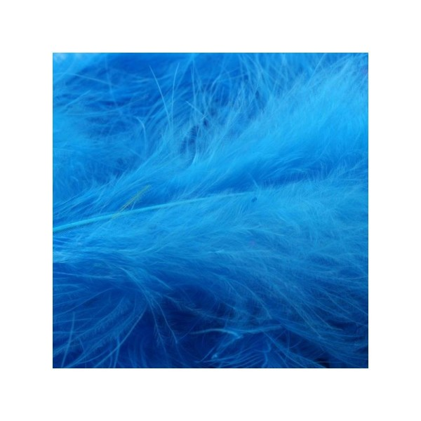 Plumes marabout bleu fluo x10 - Photo n°1