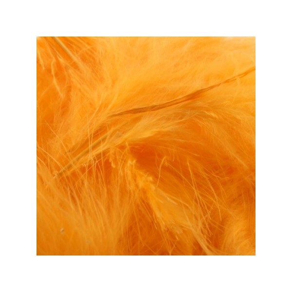 Plumes marabout orange fluo x10 - Photo n°1