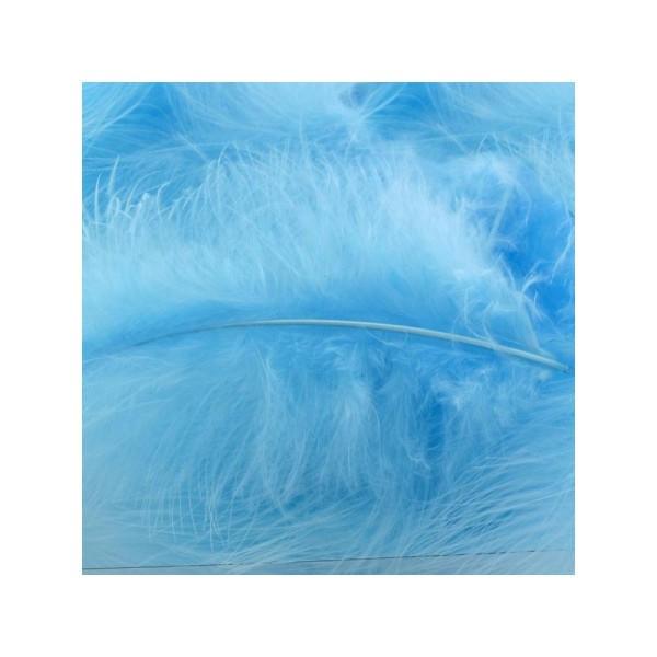 Plumes marabout bleu clair x10 - Photo n°1