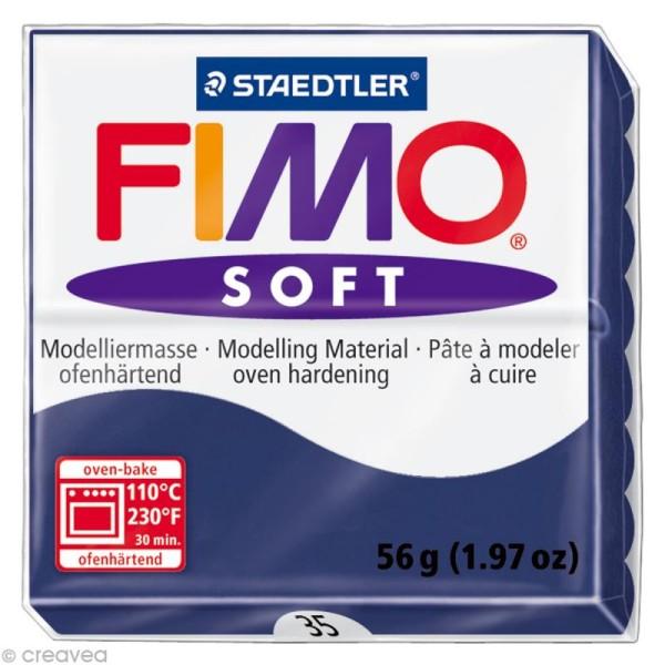 Pâte Fimo soft Bleu Royal 35 - 56 gr - Photo n°1
