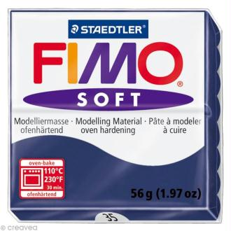 Pâte Fimo soft Bleu Royal 35 - 56 gr