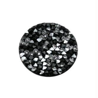 Crystal rock 15 mm jet cal (noir et argenté) Swarovski