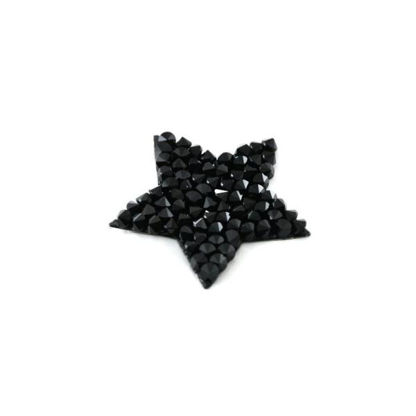 Crystal rock étoile noir Swarovski - Photo n°1