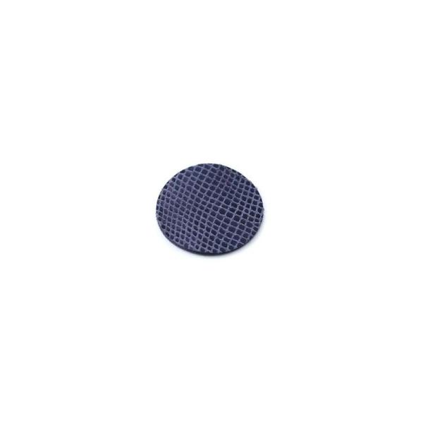 Rond de cuir serpent bleu marine 15 mm - Photo n°1