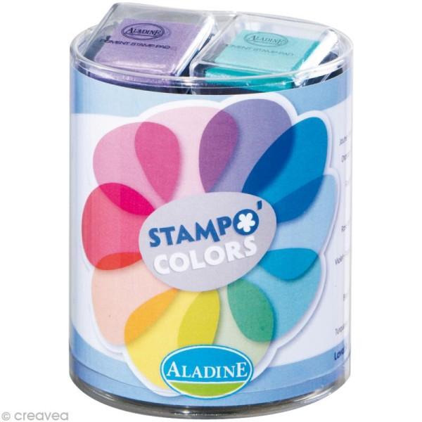 Kit 10 encreurs Stampo'colors pastel - Photo n°1