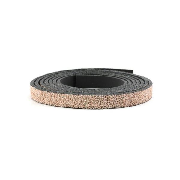 Cuir caviar 10 mm rose x10 cm - Photo n°1