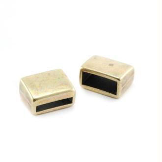 Passant rectangle métal 12x9x7 mm bronze