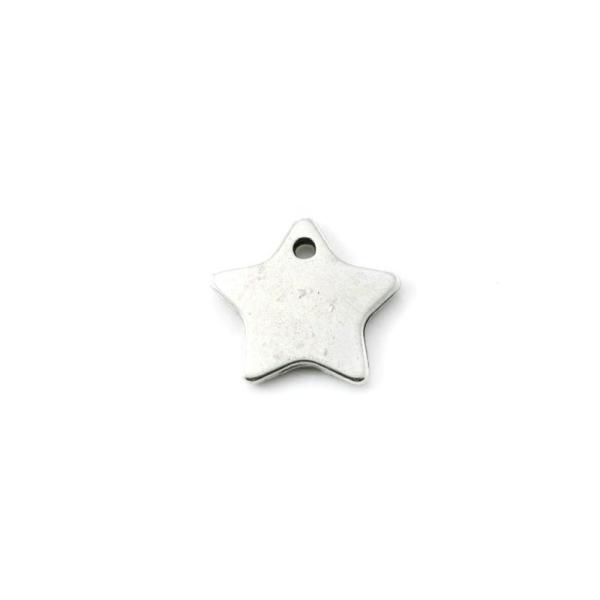 Breloque étoile métal argenté 18 mm - Photo n°1