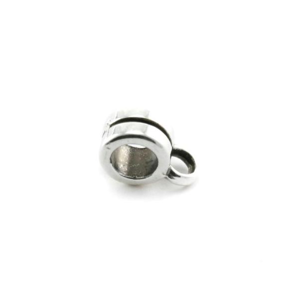 Passant rond porte-breloque 6 mm argenté - Photo n°1
