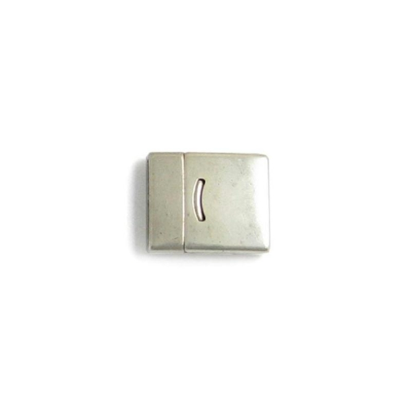 Fermoir magnétique rectangle 27 x 23 mm argenté - Photo n°1