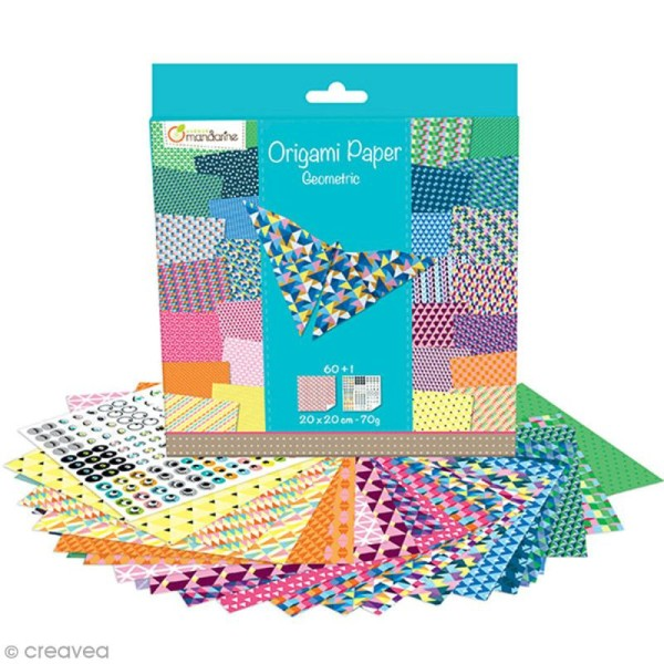 Origami 20 x 20 cm - Geometric x 60 papiers - Photo n°2