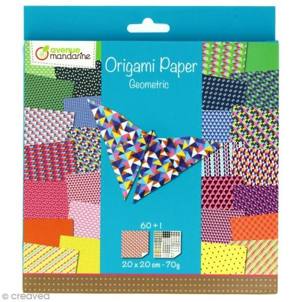 Origami 20 x 20 cm - Geometric x 60 papiers - Photo n°1