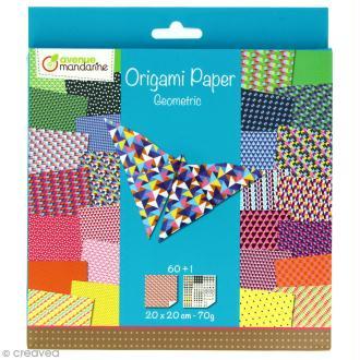 Origami 20 x 20 cm - Geometric x 60 papiers