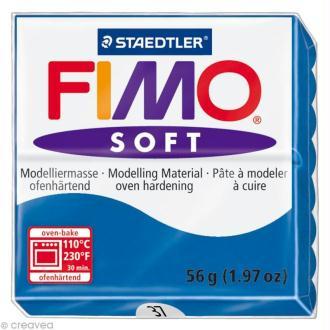 Pâte Fimo soft Bleu Océan 37 - 56 gr