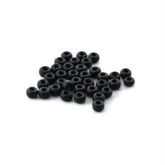 10 G (+/- 875 perles) rocaille 11/0 noir mat n°401F