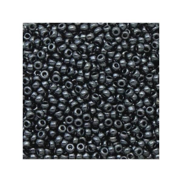 10 G (+/- 875 perles) rocaille 11/0 Gunmetal 11-451 - Photo n°1