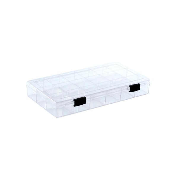 Boîte plexiglas 18 cases 21x11x3cm - Photo n°1