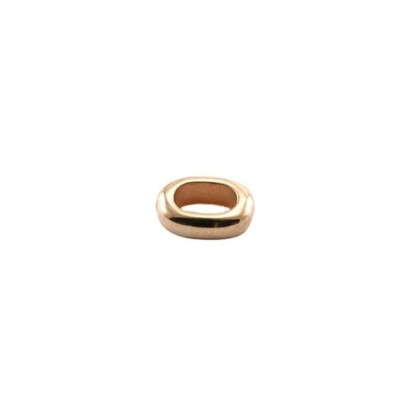 Anneau oval fermé 5.7x8.3 tr 5 mm rose gold - Photo n°1
