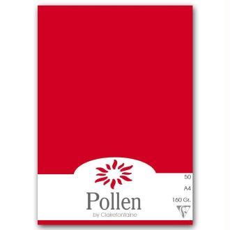Papier Pollen A4 50 feuilles - Rouge groseille