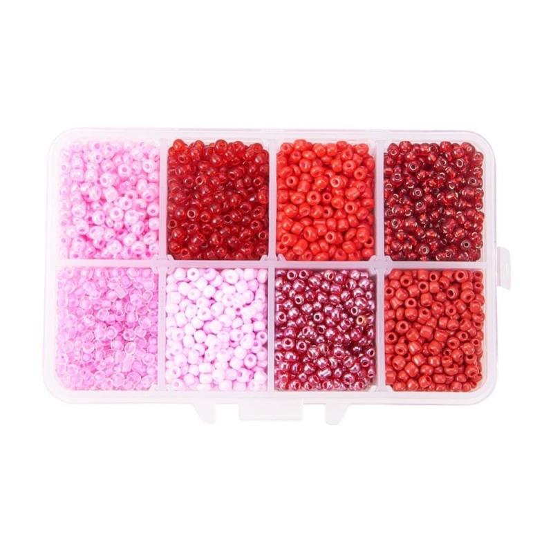 Bo te perles de rocaille rouge rose 3 mm 4200 pi ces for Accessoires cuisine originaux