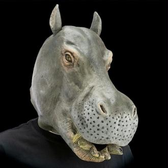 Masque d'hippopotame en latex