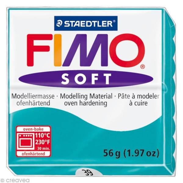 Pâte Fimo soft Bleu menthe poivrée 39 - 56 gr - Photo n°1