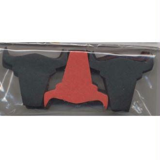 Confettis têtes de taureau noires ou rouges en papier de soie
