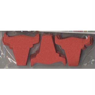 Confettis têtes de taureau rouges en papier de soie